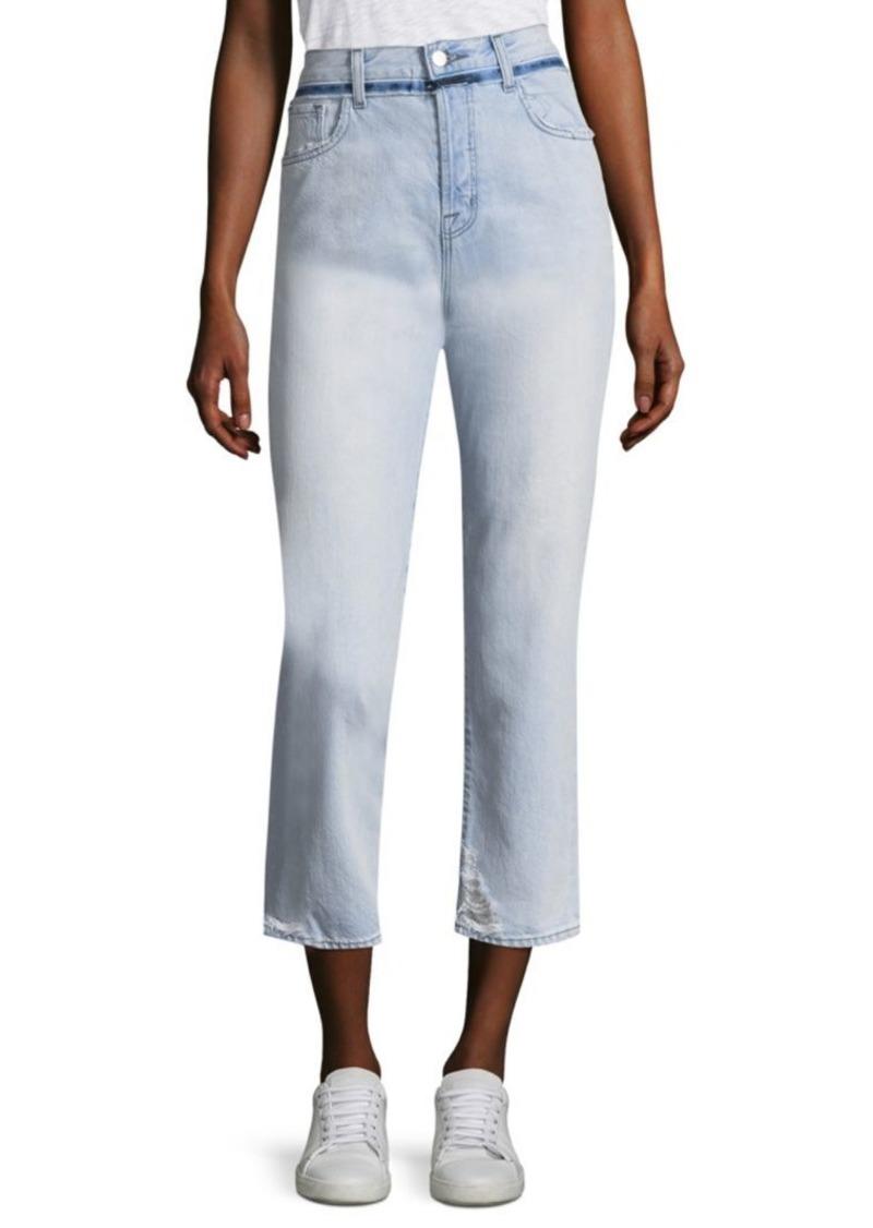 J Brand Ivy Slim-Fit Cropped Jeans