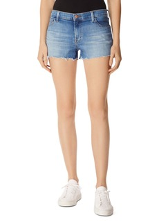J Brand 1044 Mid Rise Denim Shorts in Radiate Destruct