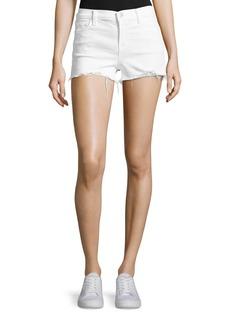 J Brand 1044 Mid-Rise Denim Shorts  White