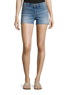 J Brand 1044 Mid-Rise Patchwork Denim Cutoff Shorts