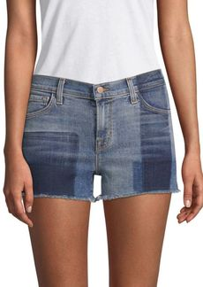 J Brand 1044 Mid-Rise Two-Tone Denim Shorts