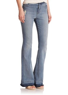 J BRAND 23021 Maria Distressed Flared Jeans