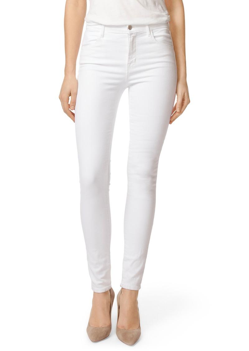 J Brand J Brand 2311 Maria High Waist Super Skinny Jeans (White Sateen Blanc) | Denim