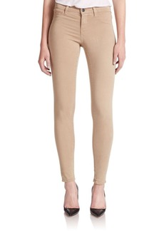 J BRAND 485 Mid-Rise Sateen Skinny Jeans