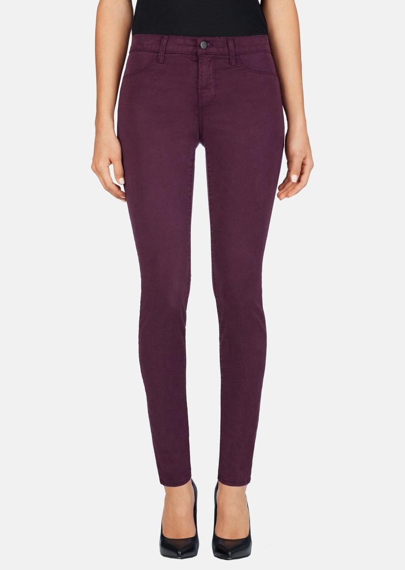 j brand j brand 39 485 39 mid rise super skinny jeans denim shop it to me. Black Bedroom Furniture Sets. Home Design Ideas