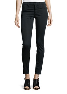 J Brand 485 Mid-Rise Super Skinny Sateen Jeans