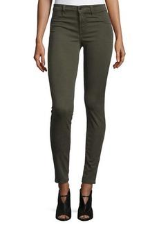 J Brand 485 Mid-Rise Super-Skinny Sateen Jeans