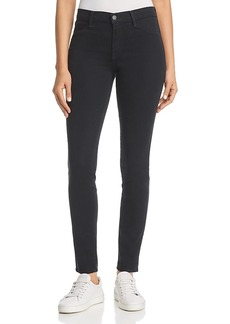 J Brand 485 Mid-Rise Super Skinny Sateen Jeans in Moorland