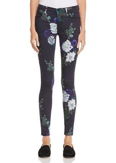 J Brand 620 Floral Super Skinny Jeans in Forest Floor