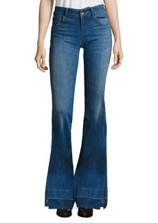 J BRAND 722 Love Story Slit Raw Hem Flared Jeans