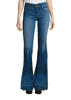 J BRAND 722 Love Story Slit Raw Hem Flared Jeans/Angelic