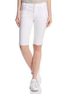J Brand 811 Bermuda Denim Shorts in Blanc