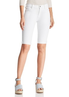 J Brand 811 Bermuda Denim Shorts in Blanc