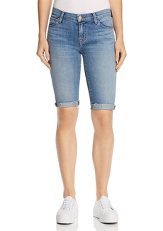 J Brand 811 Bermuda Denim Shorts in Delphi
