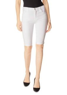 J Brand 811 Denim Bermuda Shorts in Blanc