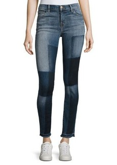 J Brand 811 Mid-Rise Skinny Patchwork Jeans