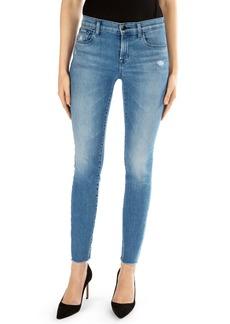 J Brand 811 Raw Hem Ankle Skinny Jeans (Icon)
