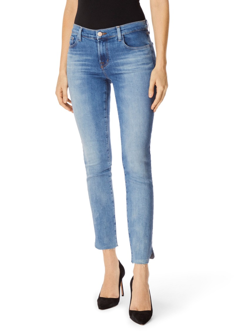 J Brand 811 Raw Hem Ankle Skinny Jeans (Radiate)