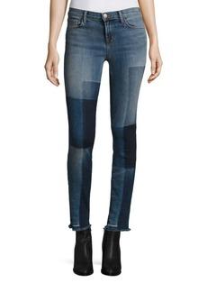 J BRAND 811 Shadow Patch Frayed Skinny Jeans