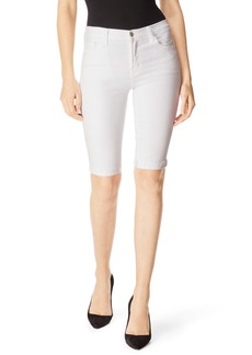 J Brand 811 Skinny Bermuda Shorts (Blanc)