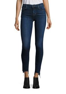 J BRAND 811 Step Hem Mid-Rise Skinny Jeans
