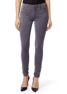 J Brand '815' Mid Rise Velveteen Super Skinny Jeans