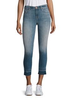 J BRAND 835 Cropped Raw Hem Skinny Jeans/Corrupted