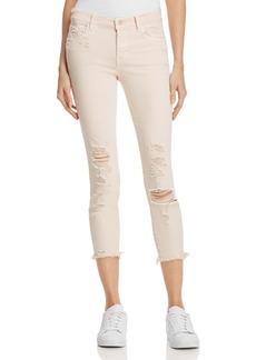 J Brand 835 Mid Rise Capri Skinny Jeans in Debutante