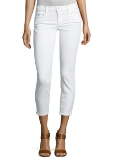 J Brand 835 Mid-Rise Cropped Jeans  Blanc