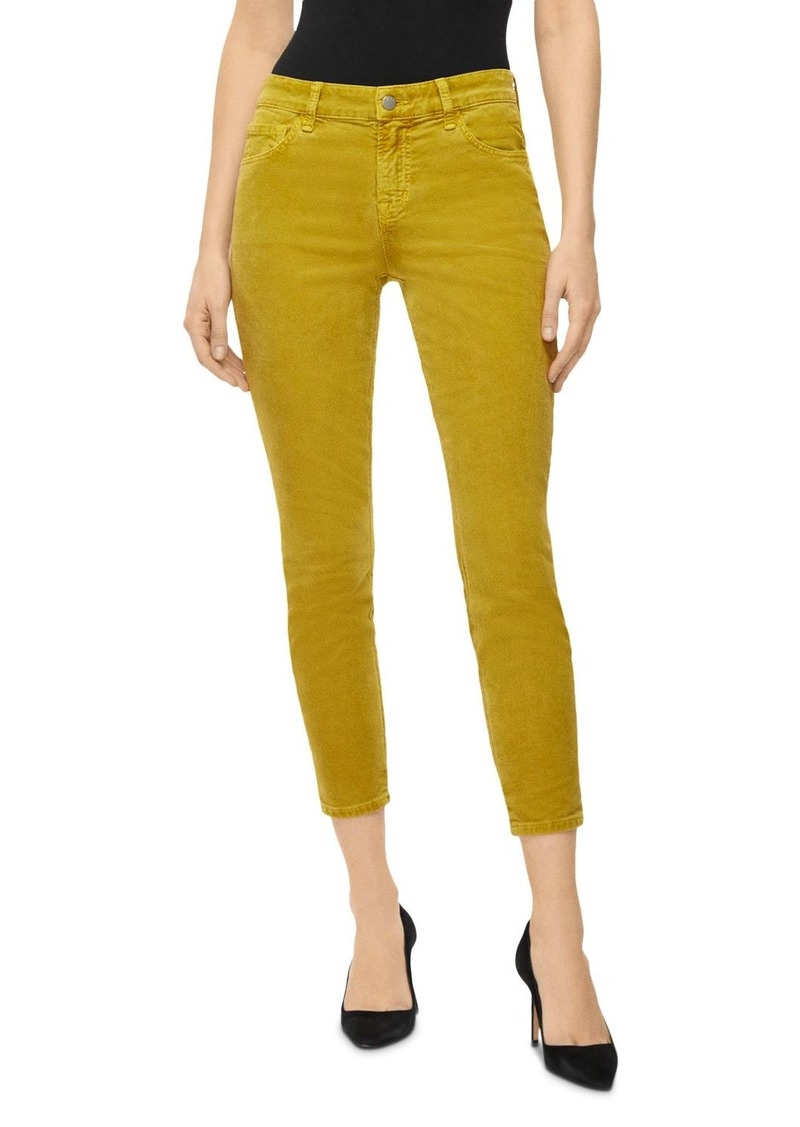 J Brand 835 Mid Rise Cropped Skinny Corduroy Pants in Absinthe