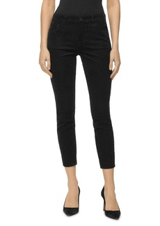 J Brand 835 Mid Rise Cropped Skinny Corduroy Pants in Black