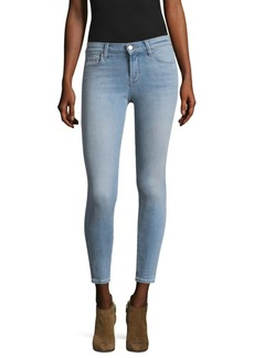 J Brand 835 Mid-Waist Light Wash Cropped Jeans