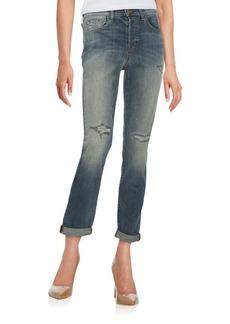 J BRAND 9022 Georgia Mid-Rise Distressed Slim Boy-Fit Jeans