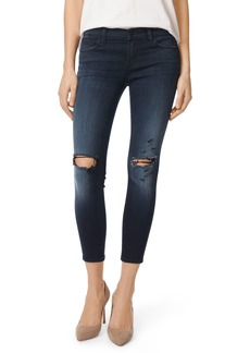 J Brand 9326 Low Rise Crop Skinny Jeans (Black Sea)