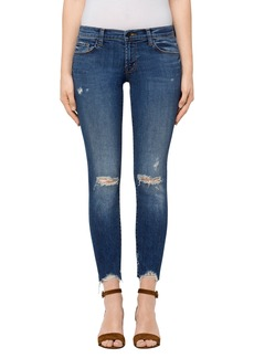 J Brand 9326 Low Rise Crop Skinny Jeans (Revoke Destruct)