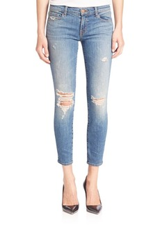 J BRAND 9326 Low-Rise Distressed Crop Skinny