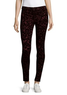 J BRAND Abstract-Print Slim-Fit Ankle Pants