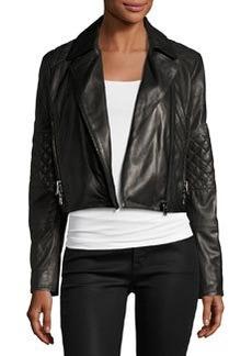 J Brand Adaire Leather Moto Jacket