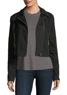 J Brand Aiah Cropped Zip-Front Jacket