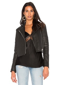 J Brand Aiah Leather Jacket in Black. - size L (also in M,XS)