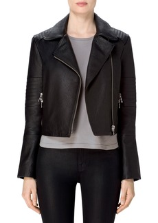 J Brand Aiah Leather Moto Jacket