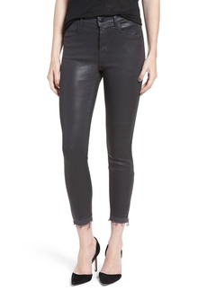 J Brand 'Alana' Coated High Rise Crop Skinny Jeans