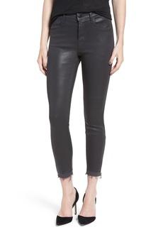 J Brand 'Alana' Coated High Rise Crop Skinny Jeans