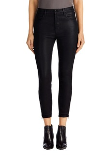 J Brand Alana Coated High Rise Crop Skinny Jeans (Fearless)
