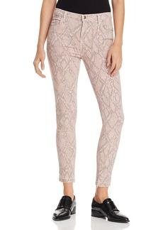 J Brand Alana Ankle Skinny Printed Jeans in Adder