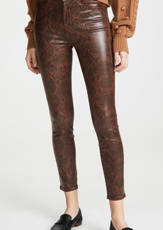 J Brand Alana High Rise Coated Crop Skinny Jeans