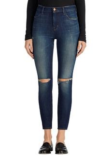 J Brand Alana Ripped High Rise Crop Skinny Jeans