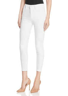J Brand Alana High Rise Crop Jeans in Blanc