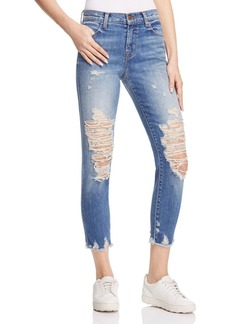 J Brand Alana High Rise Crop Jeans in Torrent