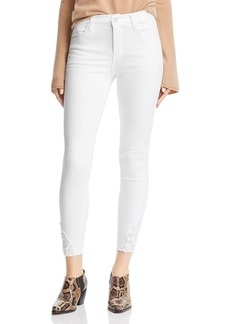 J Brand Alana High Rise Ankle Skinny Jeans in Blanc Reign